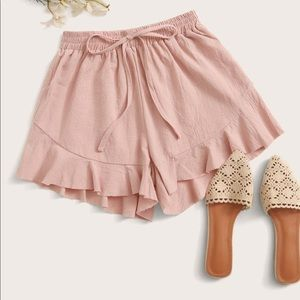 NWT SHEIN Light Pink Ruffle Short
